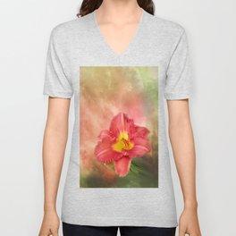 Beautiful day lily Unisex V-Neck