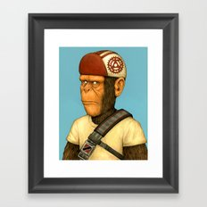 Messenger Monkey Framed Art Print