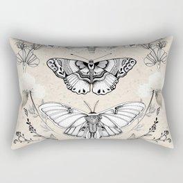 Three Moths Rectangular Pillow