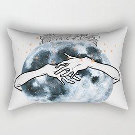 Hug the moon. Rectangular Pillow