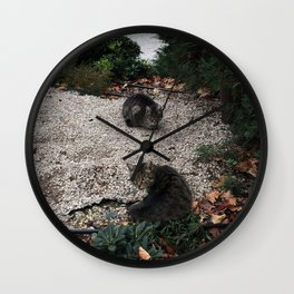 Hanging out with a friend Wall Clock