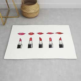 Lips and lipsticks Rug