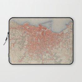 Vintage Map of Beirut Lebanon (1922) Laptop Sleeve