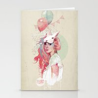 hot Stationery Cards featuring Sweet Party by Ariana Perez