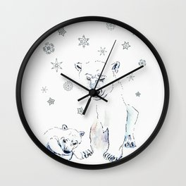 Mother & baby Polar  Wall Clock