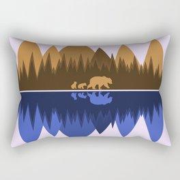 Bear & Cubs Rectangular Pillow