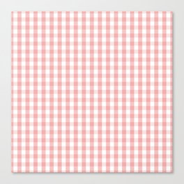 Large Lush Blush Pink and White Gingham Check Canvas Print