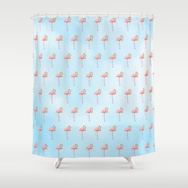 Flamingos in the Sky Shower Curtain