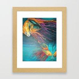 Siamese fighting fish Framed Art Print