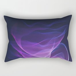 Out of the Blue - Pink, Blue and Ultra Violet Rectangular Pillow