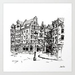 Urban Inkscape 2 Amsterdam Art Print