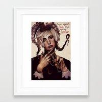 cthulhu Framed Art Prints featuring CTHULHU by MYLÈNE BRAGINA