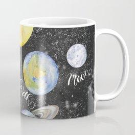 Watercolor Planets Names Coffee Mug
