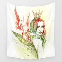 princess Wall Tapestries featuring Princess by Veronika Neto