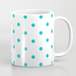 Aqua Small Polka Dots Pattern Coffee Mug