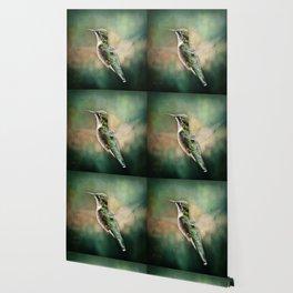 Single Humming bird in flight Wallpaper