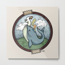 Tai Chi The Rabbit and The Whale Metal Print