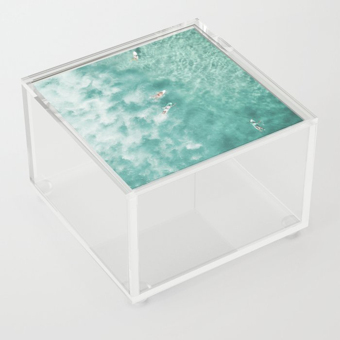 Surfing in the Ocean Acrylic Box