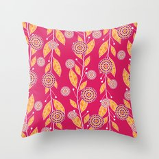 Pomegranate Paradise Throw Pillow