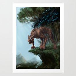Nano-Beast Art Print