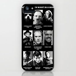 What Women Want Horror iPhone Case