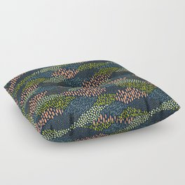 Dashes and dots // abstract pattern Floor Pillow