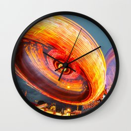 Amusement Park Ride Long Exposure Wall Clock