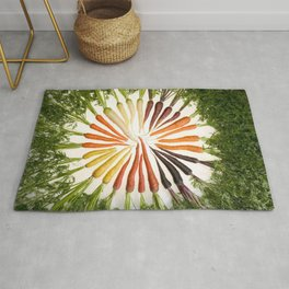Carrot Color Wheel Rug
