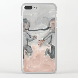 Long Distance Kiss Clear iPhone Case