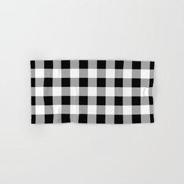 Black and White Check Hand & Bath Towel