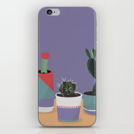 cacti colorblock iPhone Skin