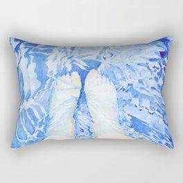 Feet in the pool Rectangular Pillow