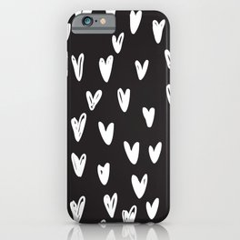 Heart hand drawn seamless pattern iPhone Case