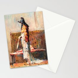 A Moroccan Woman In Traditional Dress - Digital Remastered Edition Stationery Cards