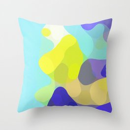 Aqua Abstract Throw Pillow