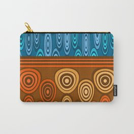 Orange and blue design Carry-All Pouch