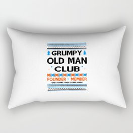 Grumpy Old Man Rectangular Pillow