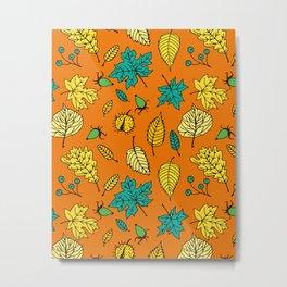 Colorful autumn pattern Metal Print