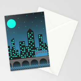 Blue City Nights Stationery Cards