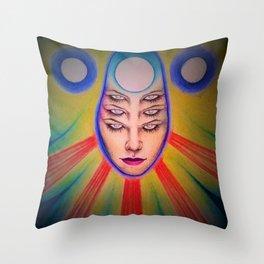 Tres Brujas Throw Pillow