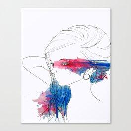 Watercolor Eyes Canvas Print