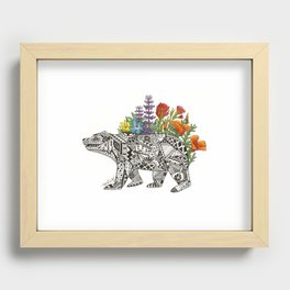 Grizzly Flora Recessed Framed Print