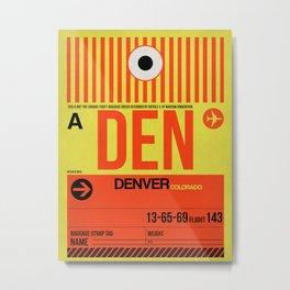 DEN Denver Luggage Tag 1 Metal Print
