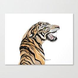 Tiger Totem Canvas Print