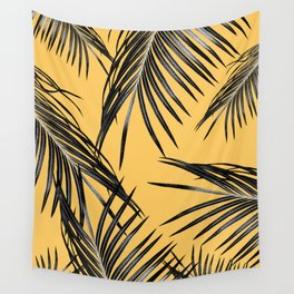 Black Palm Leaves Dream #6 #tropical #decor #art #society6 Wall Tapestry