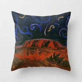 Uluru by Night Throw Pillow