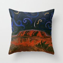 Uluru by Night Throw Pillow