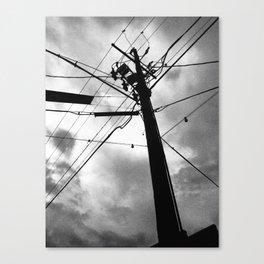 SKY + FIGURE Canvas Print