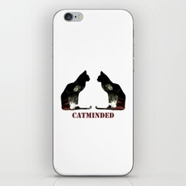 Cat minded iPhone Skin