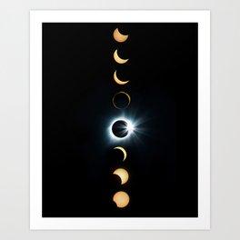 Total Solar Eclipse - Casper, Wyoming Art Print